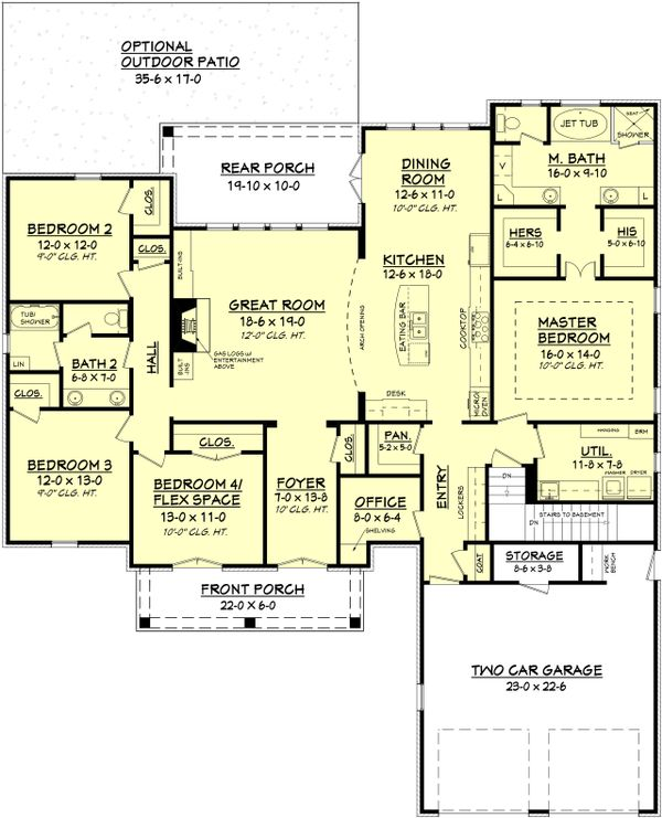 European Floor Plan - Main Floor Plan Plan #430-102