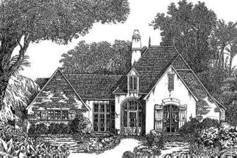 Architectural House Design - European Exterior - Front Elevation Plan #301-112