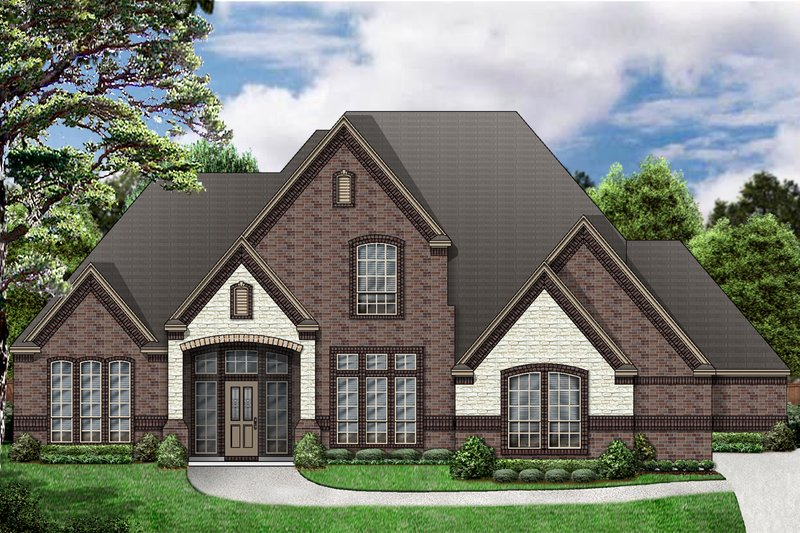European Exterior - Front Elevation Plan #84-412 - Houseplans.com