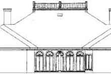 Southern Exterior - Rear Elevation Plan #45-208