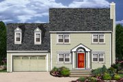 Colonial Style House Plan - 3 Beds 2.5 Baths 1681 Sq/Ft Plan #3-273 Exterior - Front Elevation