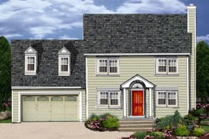 Colonial Exterior - Front Elevation Plan #3-273