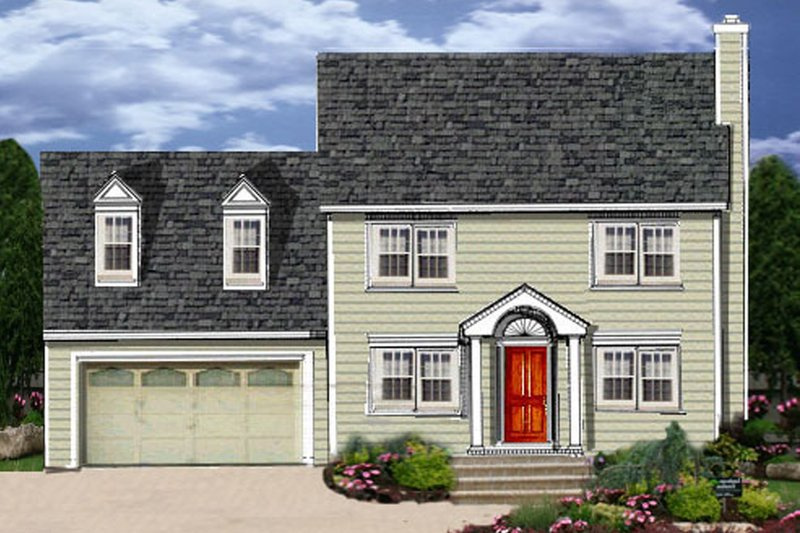 Colonial Style House Plan - 3 Beds 2.5 Baths 1681 Sq/Ft Plan #3-273