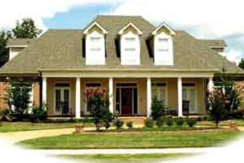 Farmhouse Style House Plan - 4 Beds 3.5 Baths 4280 Sq/Ft Plan #81-633 Exterior - Front Elevation