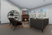 Traditional Style House Plan - 3 Beds 2 Baths 1972 Sq/Ft Plan #1060-45 Interior - Family Room