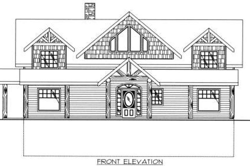 Cabin Exterior - Other Elevation Plan #117-573 - Houseplans.com