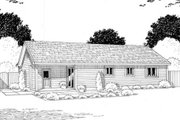Country Style House Plan - 3 Beds 2 Baths 988 Sq/Ft Plan #312-541 Exterior - Rear Elevation