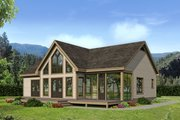 Country Style House Plan - 2 Beds 2 Baths 1830 Sq/Ft Plan #932-35 Exterior - Rear Elevation