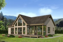 Dream House Plan - Country Exterior - Rear Elevation Plan #932-35