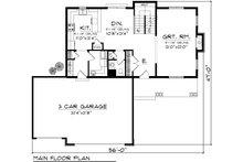 Craftsman Floor Plan - Main Floor Plan Plan #70-1133