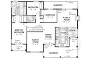 Mediterranean Style House Plan - 3 Beds 2 Baths 1862 Sq/Ft Plan #18-253