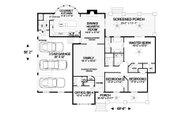 Craftsman Style House Plan - 4 Beds 3 Baths 2123 Sq/Ft Plan #56-699 Floor Plan - Main Floor