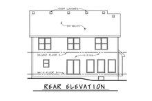 Bungalow Exterior - Rear Elevation Plan #20-1846