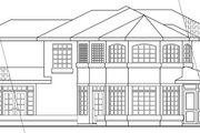 Mediterranean Style House Plan - 4 Beds 2.5 Baths 2635 Sq/Ft Plan #124-431 Exterior - Rear Elevation