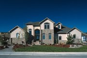 Mediterranean Style House Plan - 3 Beds 3 Baths 1984 Sq/Ft Plan #20-256 Exterior - Front Elevation