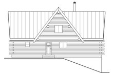 Log Exterior - Rear Elevation Plan #124-951