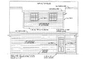 Country Style House Plan - 1 Beds 1 Baths 443 Sq/Ft Plan #116-126 Exterior - Rear Elevation