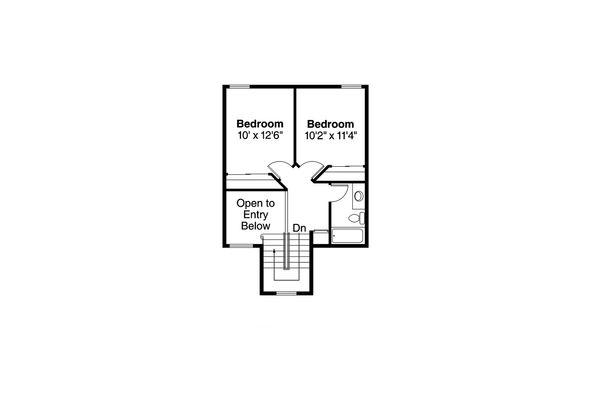 Farmhouse Floor Plan - Upper Floor Plan Plan #124-176