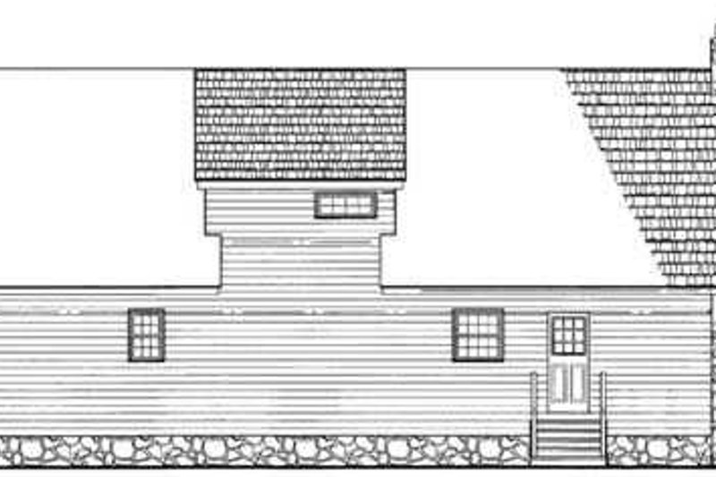 Cottage Exterior - Rear Elevation Plan #72-117 - Houseplans.com