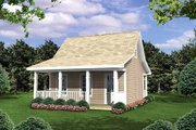 Cottage Style House Plan - 1 Beds 1 Baths 400 Sq/Ft Plan #21-205 Exterior - Front Elevation