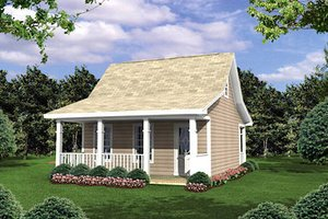 Cottage Exterior - Front Elevation Plan #21-205