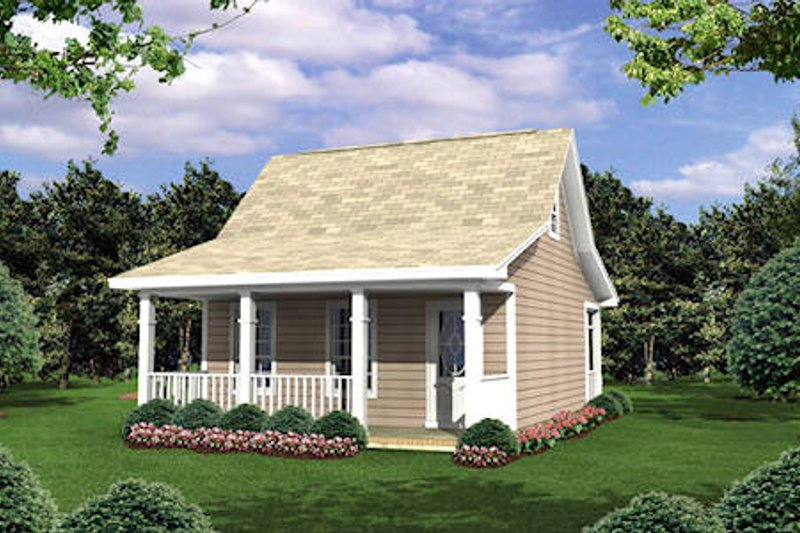 Cottage Exterior - Front Elevation Plan #21-205