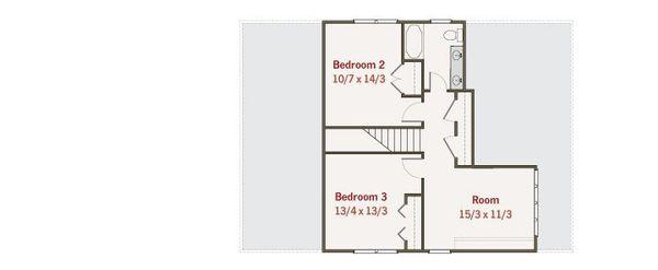 Craftsman Floor Plan - Upper Floor Plan Plan #461-37