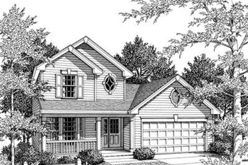 Traditional Exterior - Front Elevation Plan #57-163 - Houseplans.com