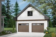 Craftsman Style House Plan - 0 Beds 0 Baths 446 Sq/Ft Plan #23-2477 Exterior - Front Elevation