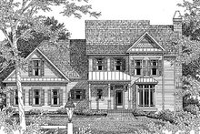 Traditional Exterior - Front Elevation Plan #41-156