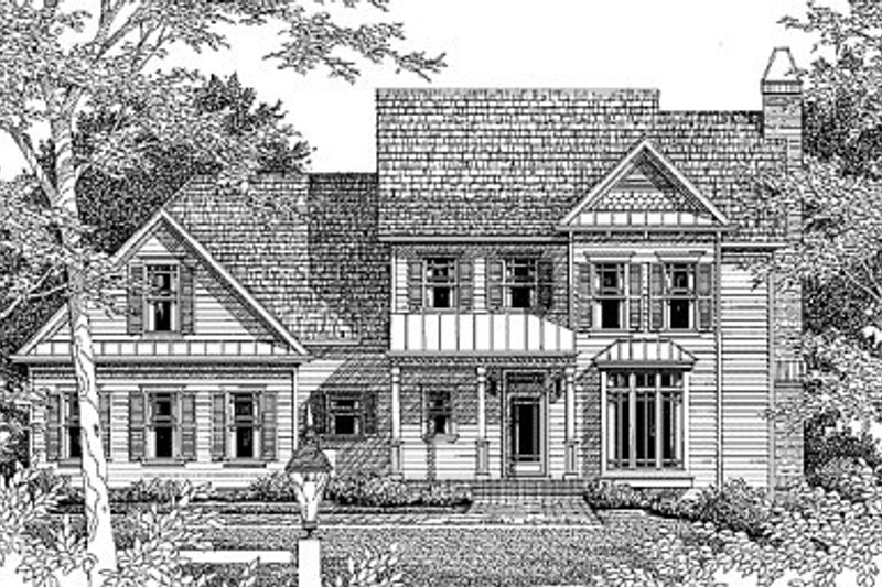 Traditional Exterior - Front Elevation Plan #41-156 - Houseplans.com