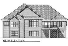 Dream House Plan - Traditional Exterior - Rear Elevation Plan #70-336