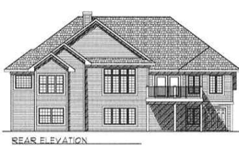 Traditional Exterior - Rear Elevation Plan #70-336 - Houseplans.com