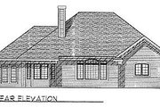 Traditional Style House Plan - 3 Beds 2.5 Baths 2045 Sq/Ft Plan #70-291 Exterior - Rear Elevation