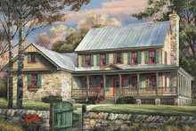 House Design - Country Exterior - Front Elevation Plan #137-255