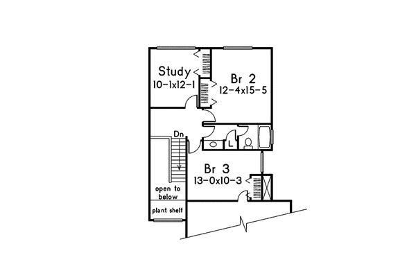 Modern Floor Plan - Upper Floor Plan Plan #57-672