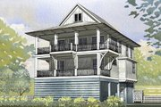 Beach Style House Plan - 4 Beds 2.5 Baths 2593 Sq/Ft Plan #901-118 Exterior - Front Elevation