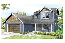 Architectural House Design - Country Exterior - Front Elevation Plan #124-906