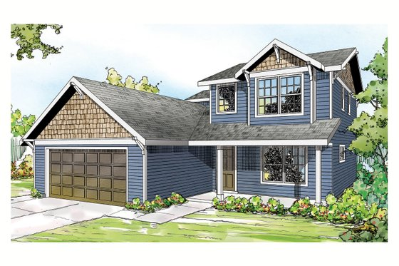 Country Exterior - Front Elevation Plan #124-906