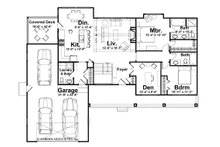Ranch Floor Plan - Main Floor Plan Plan #928-5