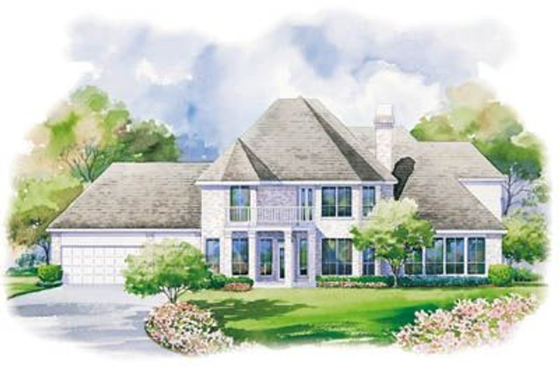European Exterior - Rear Elevation Plan #20-1114 - Houseplans.com