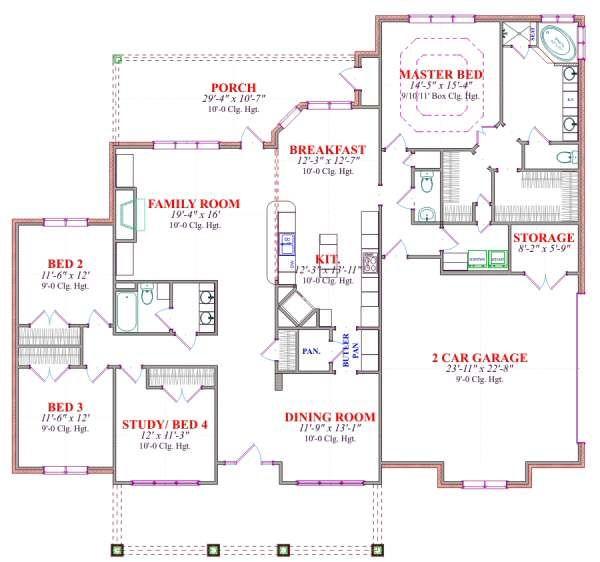 Traditional Floor Plan - Main Floor Plan Plan #63-179