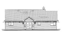 House Plan Design - Ranch Exterior - Rear Elevation Plan #18-1055