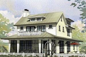 Home Plan - Farmhouse Exterior - Front Elevation Plan #901-140
