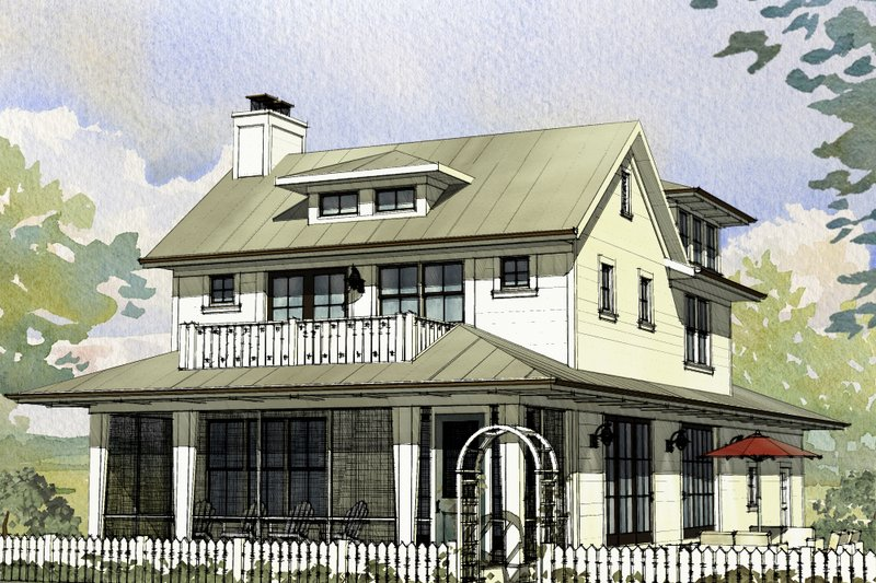 Architectural House Design - Farmhouse Exterior - Front Elevation Plan #901-140