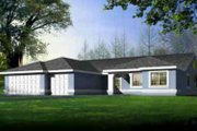 Ranch Style House Plan - 4 Beds 3 Baths 2607 Sq/Ft Plan #1-1484 Exterior - Front Elevation