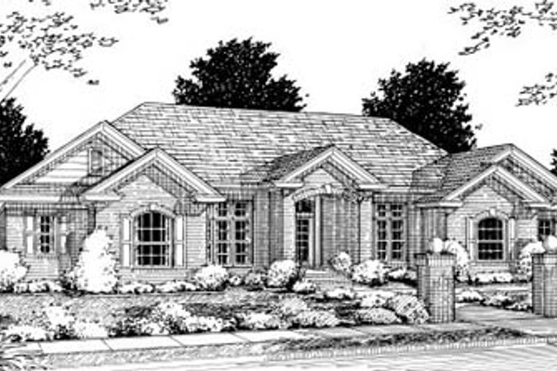 Traditional Exterior - Front Elevation Plan #20-325 - Houseplans.com