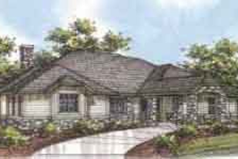 Traditional Exterior - Front Elevation Plan #117-134 - Houseplans.com