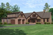 Architectural House Design - Craftsman Exterior - Front Elevation Plan #1071-22