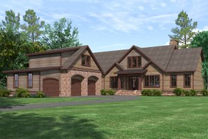 House Plan Design - Craftsman Exterior - Front Elevation Plan #1071-22
